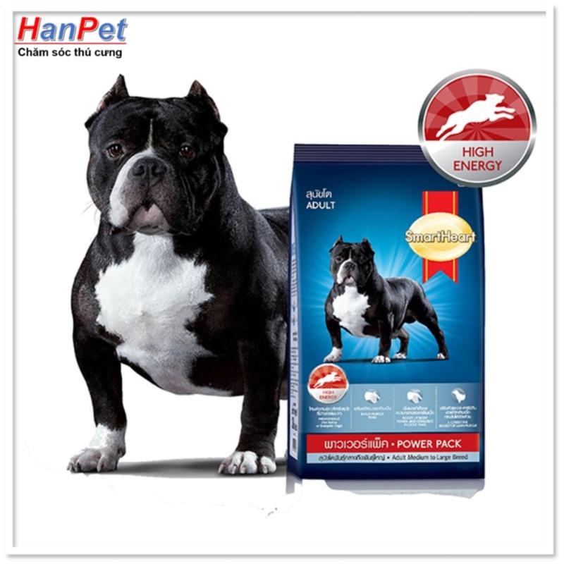 HCM- Smartheart Power pack (Puppy và adult) Gói 3 kg Thức ăn dạng hạt  chó PHÁT TRIỂN CƠ (hàng nhập khẩu thailand) (hanpet 2-HP10318TC