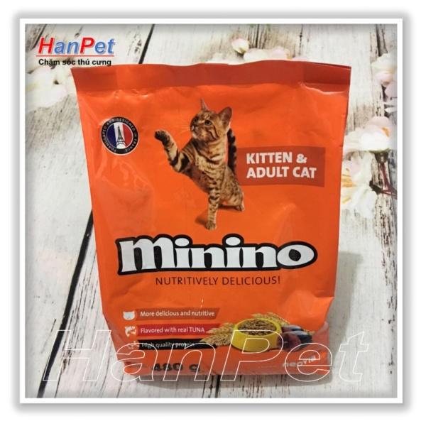 Thức ăn hạt phẩm chất Pháp Quốc cho mèo mọi lứa tuổi Minino - Gói 480g - HoaMy 233