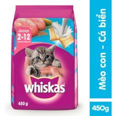 Voucher Khuyến Mãi Thức ăn Mèo Con Whiskas 450g