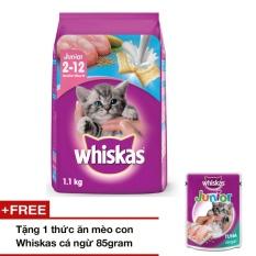 Giá Bán Thức Ăn Meo Con Whiskas Vị Ca Biển Sữa 1 1Kg Tặng 1 Thức Ăn Meo Con Whiskas Vị Ca Ngừ 85Gr Whiskas Mới