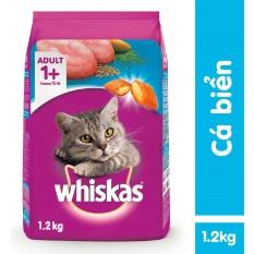 Coupon tại Lazada cho Thức ăn Mèo Whiskas Vị Cá Biển Túi 1.2kg