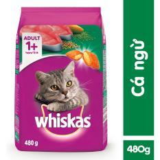 Lazada Giảm Giá Khi Mua Thức ăn Mèo Whiskas Vị Cá Ngừ Túi 480g