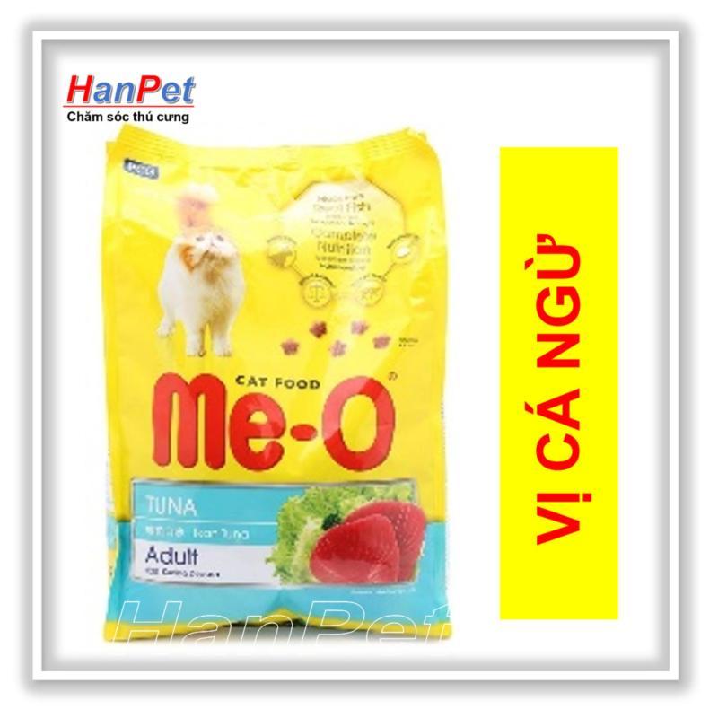 HN-thức ăn viên cho mèo lớn  Me-O 350gr (vị CÁ NGỪ) (hanpet 201)