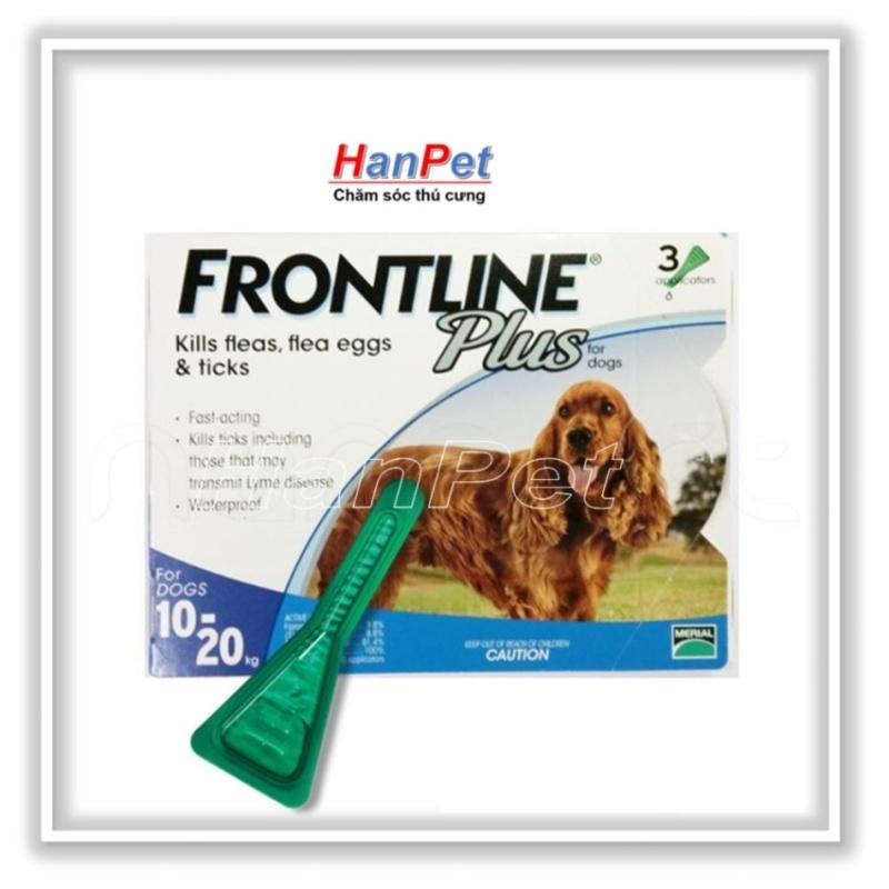 Thuốc nhỏ gáy trị ve rận FRONTLINE PLUS 10-20 Nhập từ Pháp (chó 10-20kg) sunzin 111