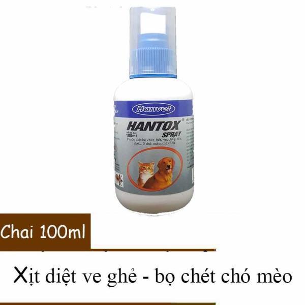 Thuốc xịt trị ve ghẻ, bọ chét chó mèo - Hantox Spray xịt 100ml