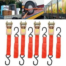Tie Down Strap Ratchet Belt With Metal Buckle Luggage Bag Cargo Lashing - intl