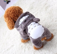 Totoro Transfiguration Fitted Teddy Small Dog Explosion Models Clothing Dog Clothes Four Feet Cotton Clothing Pet Fall And Winter Section - Intl By Paidbang.