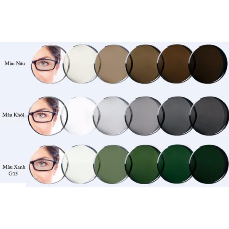 Giá bán Tròng kính đổi màu cận, viễn,loạn, chống lóa ,chống uv400, chống nước
