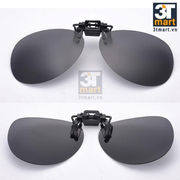 Giá bán Tròng kính mát kẹp phân cực cho người cận QSShop OV01XK (Xám khói)