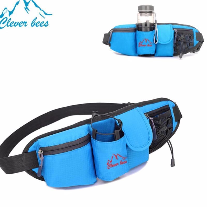 Túi đeo vai, đeo hông đựng nước, đồ dùng khi chơi thể thao, chạy bộ K73(Xanh)
