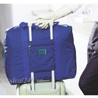 [HCM]Túi du lịch đa năng gắn vali kéo (Xanh đậm). thumbnail