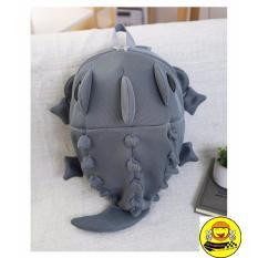 Tui Đựng Non Cặp Đựng Dụng Cụ Balo Khủng Long 3D Cute Xam Ghi Nguyên