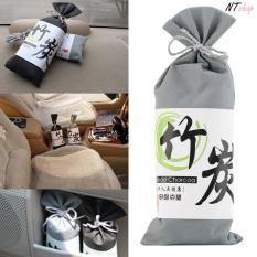 Túi Than Tre hoạt tính khử mùi , khí độc tủ quần áo, phòng làm việc, nhà tắm, xe hơi ( Màu Ngẫu nhiên Xám hoặc Đen 135 gram) PKXHKM01