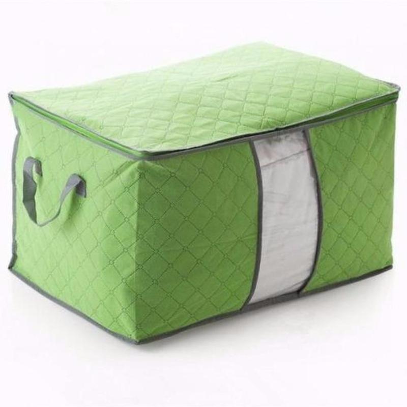 Túi vải đựng chăn màn quần áo (xanh lá)