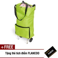 Ôn Tập Tui Xach Co Banh Xe Keo Flancoo 2661 Xanh La Tặng Thẻ Tich Điểm Flancoo