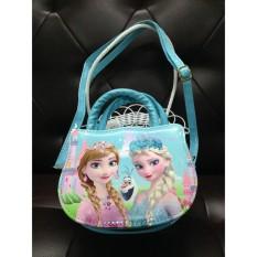 Túi xách tay kết hợp đeo chéo hình Elsa Anna cho bé gái 5-12 tuổi