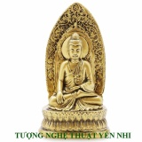 Bán Tượng Để O To Phật Thich Ca Ngồi Đai Sen La Nhọn 21X11Cm None Nguyên