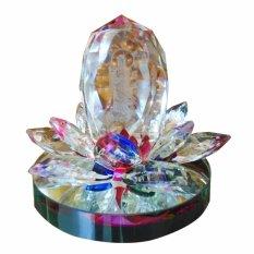Tượng Phật Ba Quan Am Toa Sen Pha Le Đa Sắc Qapl04 Mới Nhất