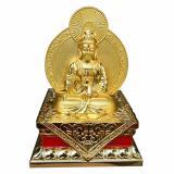 Mã Khuyến Mại Tượng Phật Ba Quan Am Vang Anh Kim Ngồi Bệ Vang Qaak03