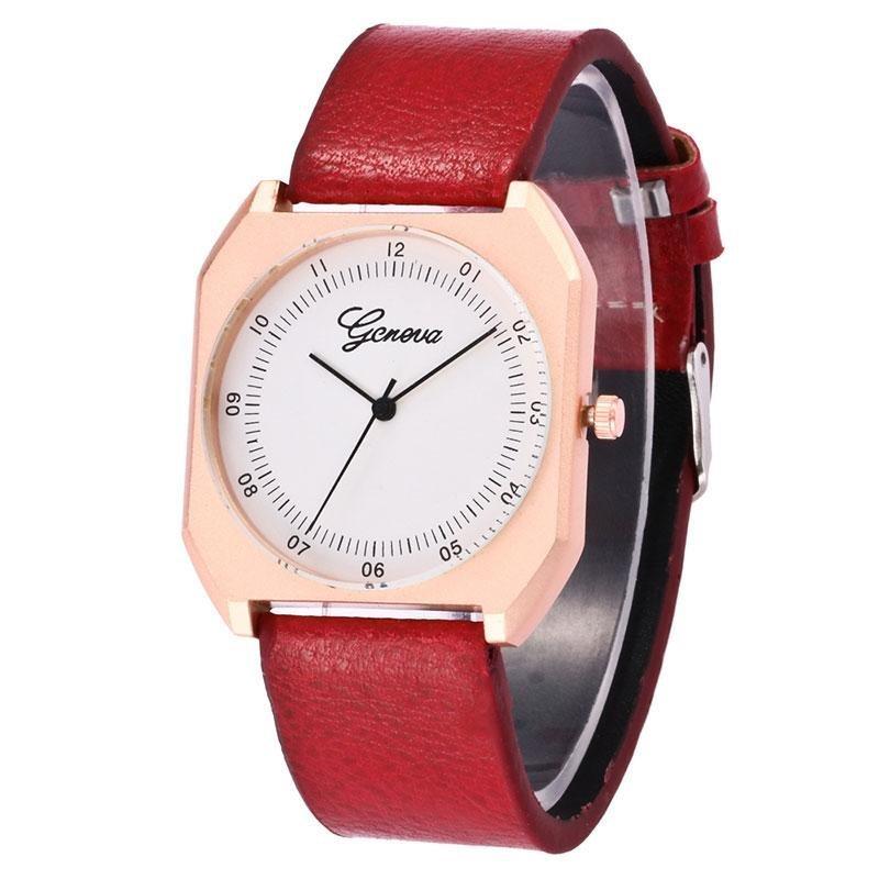 Nơi bán Unisex Fashion PU Bracelet Band Square Quartz Casual Students Wrist Watch Gifts - intl