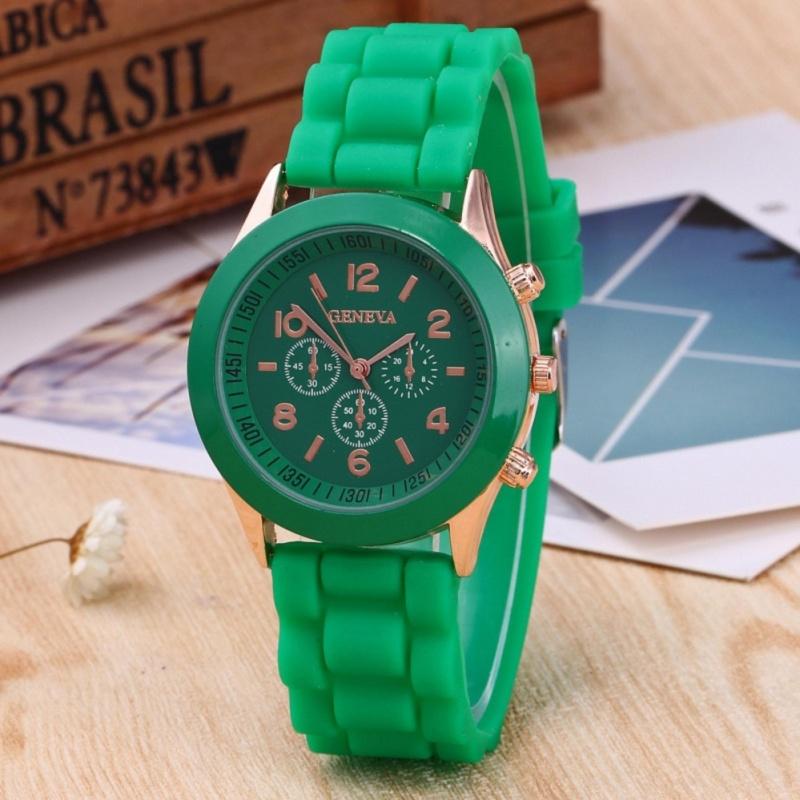 Unisex Ladies Boys Girls Geneva Silicone Jelly Quartz Wrist Watch - intl bán chạy