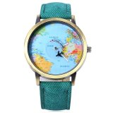 Bán Unisex Watch Quartz Wristwatch World Map Leather Band 7 Intl Tc Not Specified Rẻ