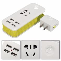 Giá Bán Universal 4 Ports Usb Travel Strip Home Wall Ac Charger Socket Us Plug 5V 2 1A Intl Trực Tuyến