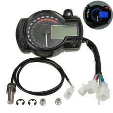 Đa năng Xe Máy Xe Máy MÀN HÌNH LCD Kỹ Thuật Số Đồng Hồ Tốc Độ Đồng Hồ Đo Đo Tốc Độ-quốc tế