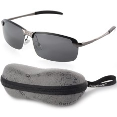 UV400 Polarized Glasses Outdoor Sports Driving Sunglasses Black+Grey Frame OS387-SZ - intl