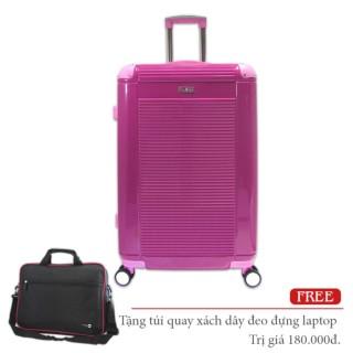 Vali size 20 nhựa siêu nhẹ cần kéo Inox Cosas United khóa TSA màu hồng đậm TA272 thumbnail