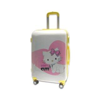 Vali kéo du lịch nhựa hình mèo con Kitty size trung 6 tấc TA019 thumbnail
