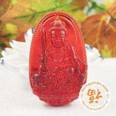 Mua Mặt Day Chuyền Phật Bản Mệnh Văn Thu Bồ Tat Lưu Ly Đỏ Nhỏ Rẻ