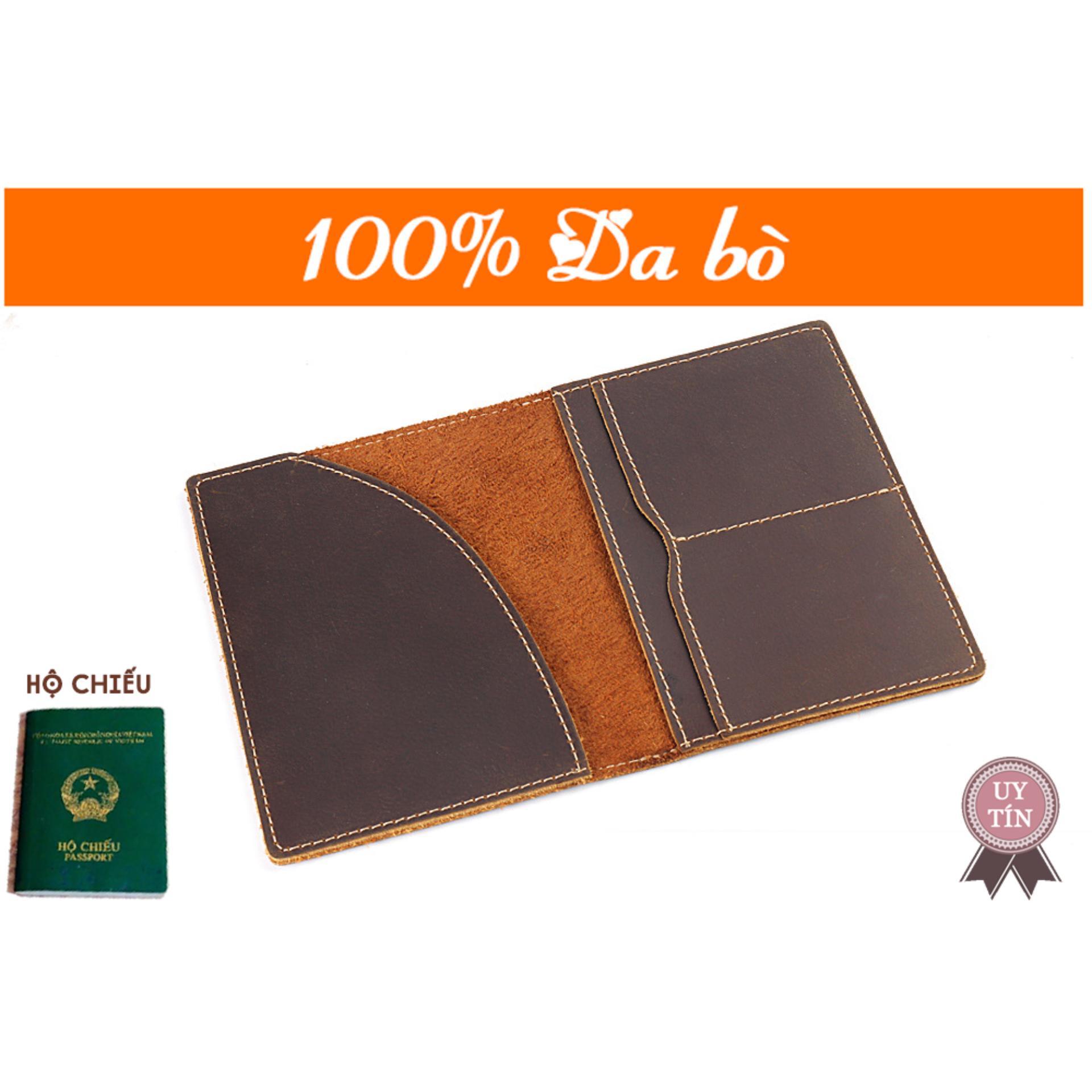 Ví Da Passport Chứa Hộ Chiếu Du Lịch Kn001