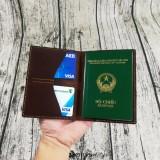 Bán Vi Đựng Passport Da Bo Handmade Có Thương Hiệu Nguyên