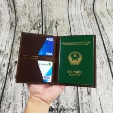 Vi Đựng Passport Da Bo Handmade Rẻ