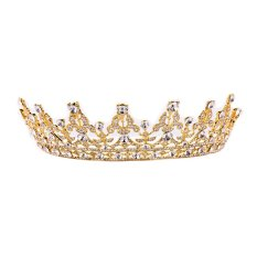 Mua Vintage Crystal Gold Crown Bridal Headwear Wedding Tiara Hair Accessories Intl Rẻ