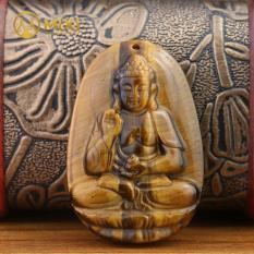 Vòng cổ nam mặt Phật A Di Đà đá mắt hổ hộ mệnh người tuổi Tuất, Hợi