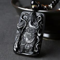 Vòng đeo cổ chuỗi hạt đá phong thủy dây chuyền thẻ bài tượng quan công