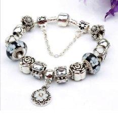 Bán Mua Vong Đeo Tay Mạ Bạc Trang Sức Hạt Charms Cao Cấp Jewelry Queen Victoria Charm Panda Dz61 Bạc Trong Hà Nội
