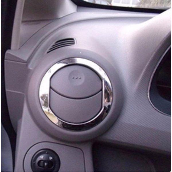 Vòng mạ Inox Trang trí họng máy lạnh sử dụng cho xe Gentra-Aveo.