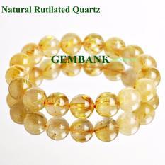 Giá bán Vòng Tay Thạch Anh Tóc Vàng Tự Nhiên - Natural Rutilated Quartz - STONE BANK