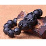 Giá Bán Vong Tay Tỳ Hưu Tịch Ta Đa Obsidian Đen Khắc Kinh Phật 14Mm Bảo Tin