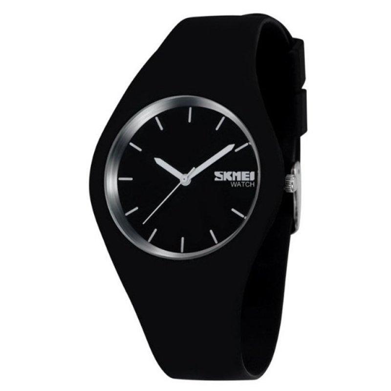 Nơi bán Đồng hồ Nữ SKMEI thương hiệu sang trọng Thời Trang đồng hồ thạch anh da thể thao Nữ relojes mujer nữ đồng hồ nữ Gái (Black1) -quốc tế
