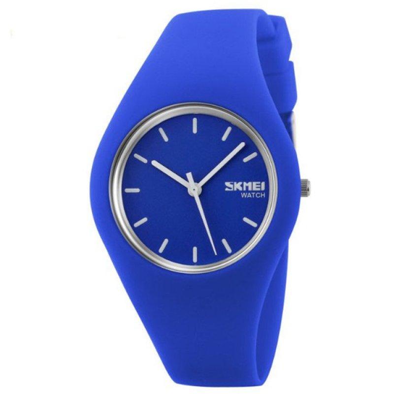 Nơi bán Watch Women SKMEI brand luxury Fashion Casual quartz watches leather sport Lady relojes mujer women wristwatches Girl Dress (Blue) - intl