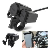 Giá Bán Waterproof 12V Motorcycle Handlebar Power Adapter Charger With 5V 2 1A Usb Socket Intl