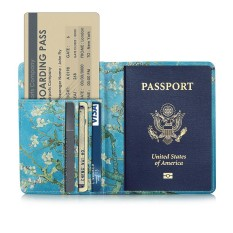 Whyus-Travel Passport Covers Credit Card Boarding Pass Holder Protective Cover Wallet Case (Blue) Với Giá Sốc