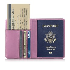 Whyus-Travel Passport Covers Credit Card Boarding Pass Holder Protective Cover Wallet Case (Pink) Khuyến Mại Hot