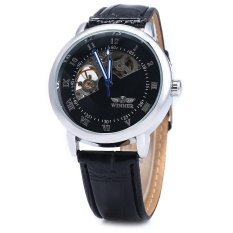 Winner W032 Men Fan Shaped Hollow Mechanical Watch With Leather Band Arabic Roman Numeral Scales Black Intl Trong Vietnam