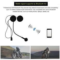 Giá Bán Wireless Bluetooth Hifi Stereo Earphones Headset Hd Microphone For Motorcycle Helmet Intl Oem Trực Tuyến