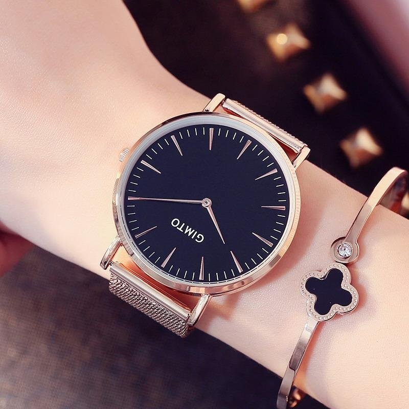Women Watches 2017 Brand Luxury Fashion Quartz Ladies Watch Lover Clock Rose Gold Dress Casual Watch girl - intl bán chạy
